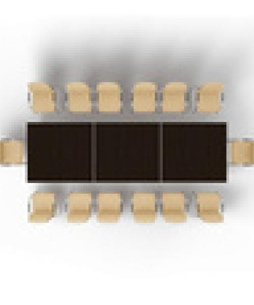 Прямоугольный модульный стол MMH4212